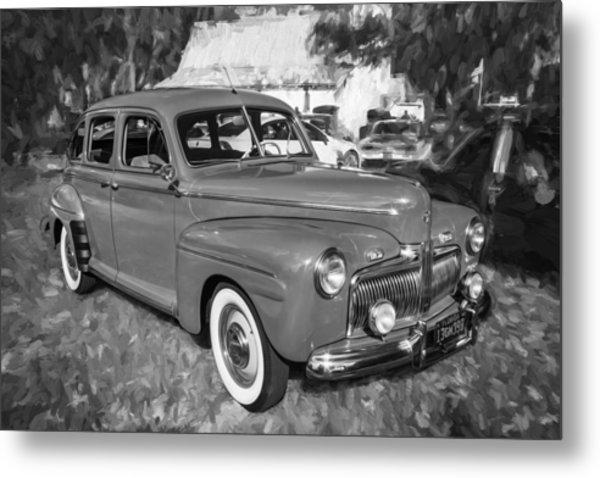 1942 Ford Super Deluxe Sedan Bw  Metal Print