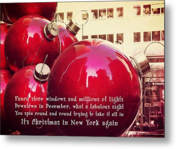 6th Avenue Quote Metal Print by JAMART Photography