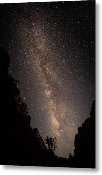 A Dark Night In Zion Canyon Metal Print