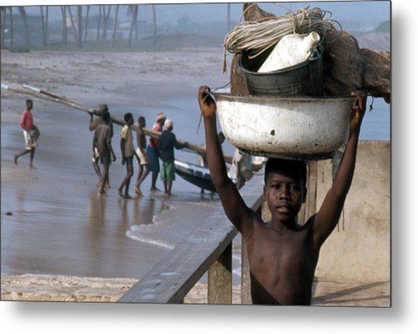 African Fishermen Metal Print
