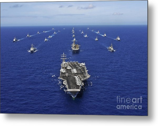 Aircraft Carrier Uss Ronald Reagan Metal Print