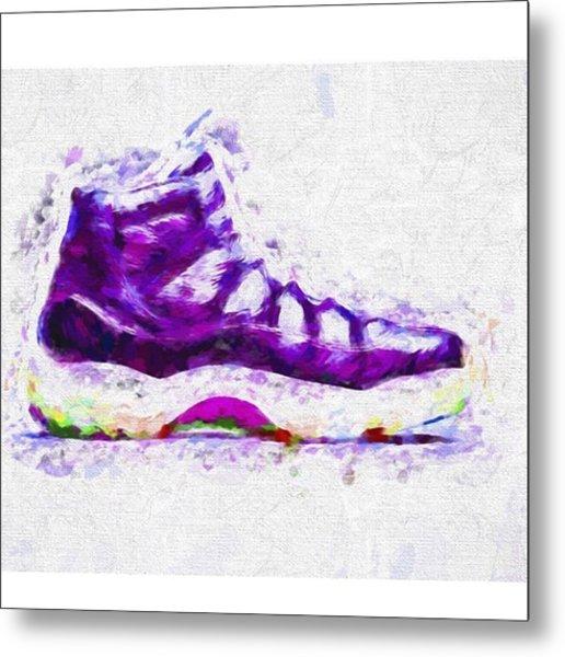 #airjordans #shoes #kicks #art #fineart Metal Print