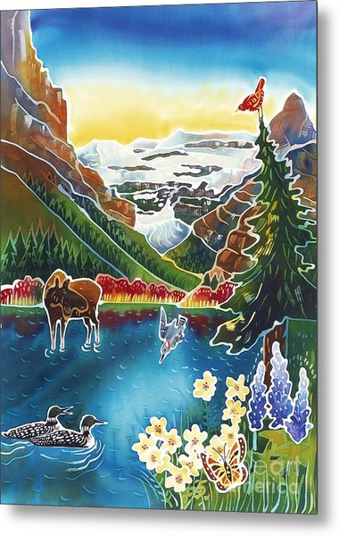 Alpine Lake Sunrise Metal Print