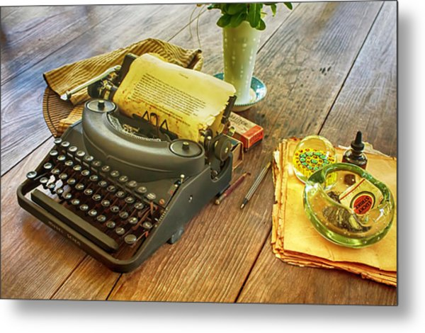 An Author's Tools Metal Print