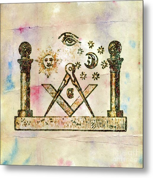 Ancient Freemasonic Symbolism By Pierre Blanchard Metal Print