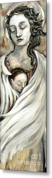 Angel And Baby Metal Print