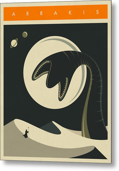 Arrakis Travel Poster  Metal Print