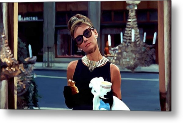 Audrey Hepburn @ Breakfast At Tiffanys Metal Print