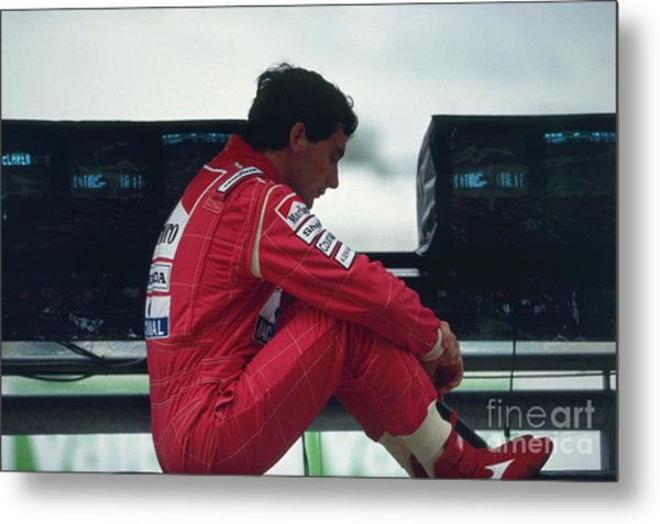 Ayrton Senna. 1992 French Grand Prix Metal Print