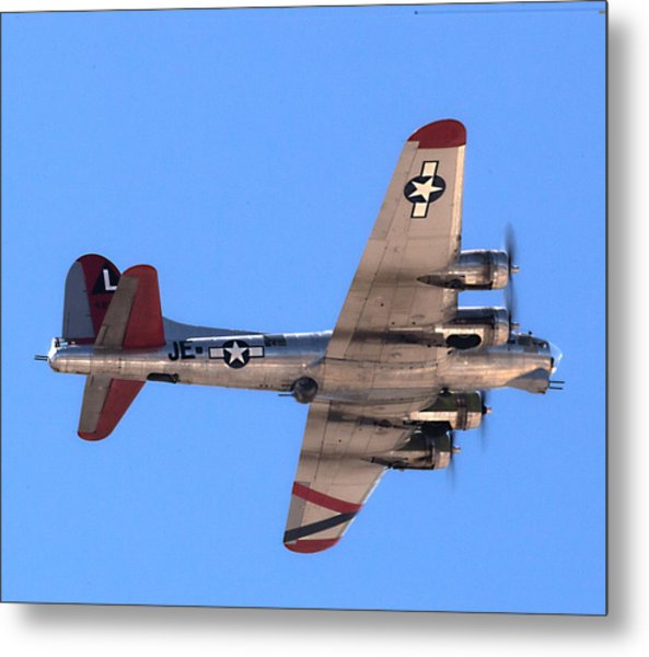 Metal Print featuring the photograph B-17 Bomber by Dart Humeston