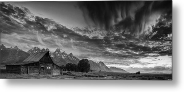 Barn In The Mountains Metal Print