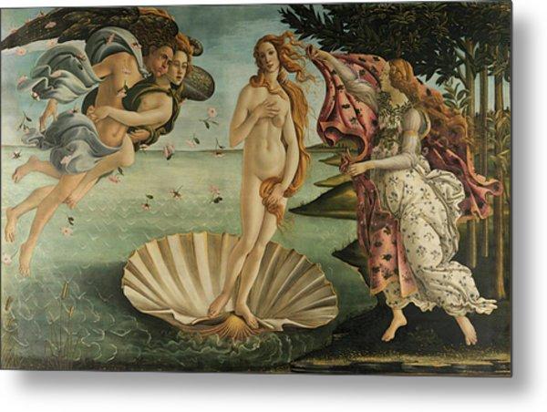 The Birth Of Venus, Detail Metal Print