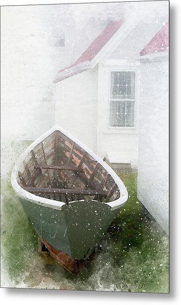 Boat On Monhegan Island Metal Print