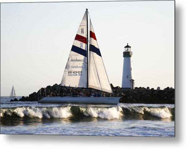 2 Boats Approach Metal Print