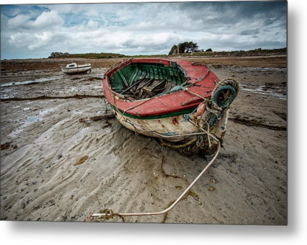 Boats By The Sea Metal Print