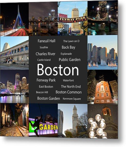 Boston Ma Collage Metal Print