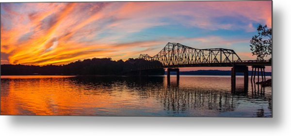 Browns Bridge Sunset Metal Print