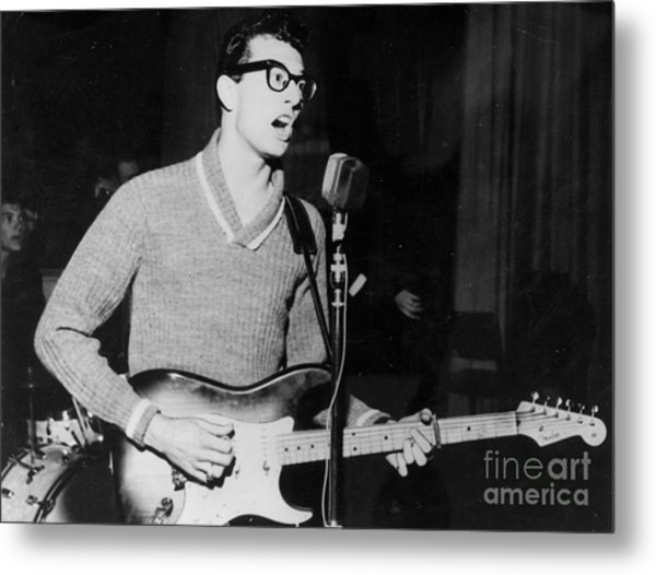 Buddy Holly Promotional Photo Metal Print