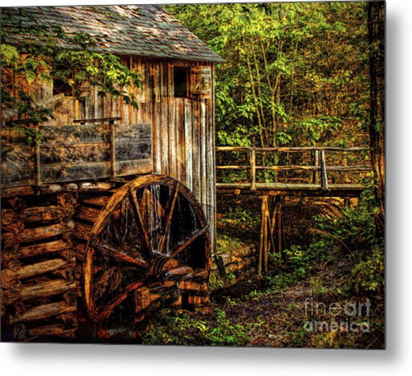 Cades Cove Mill Metal Print