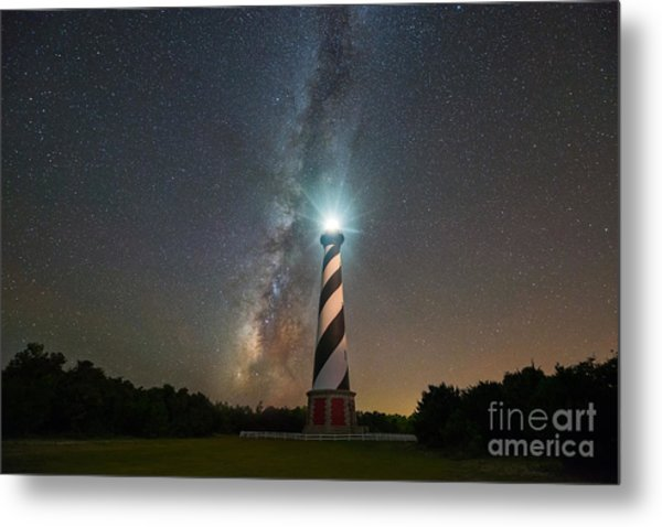 Cape Hatteras Lighthouse Milky Way Metal Print