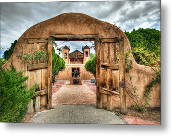 Chimayo Church Metal Print