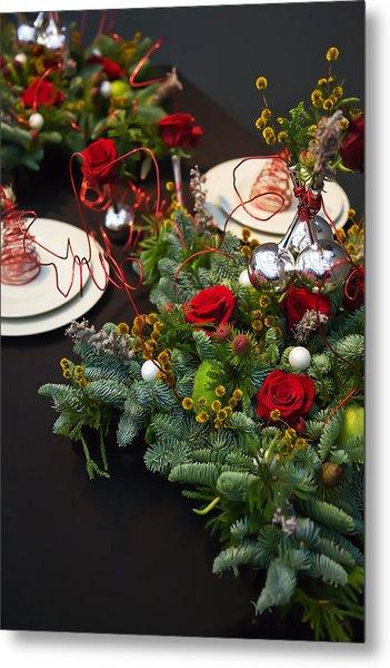 Christmas Table Metal Print
