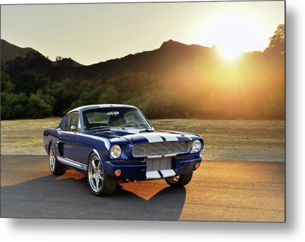 Classic Recreations Shelby Gt350cr Metal Print by Drew Phillips