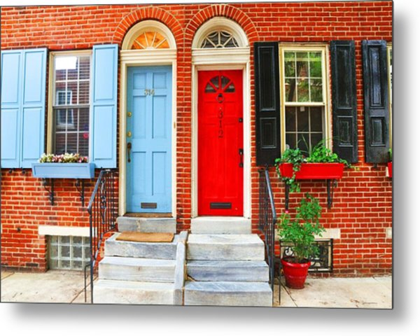 Colonial Doors Metal Print