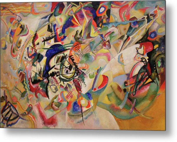 Composition Vii Metal Print by Wassily Kandinsky