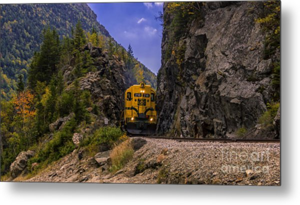 Conway Scenic Railroad Notch Train. Metal Print