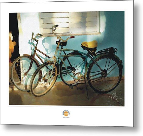2 Cuban Bicycles Metal Print