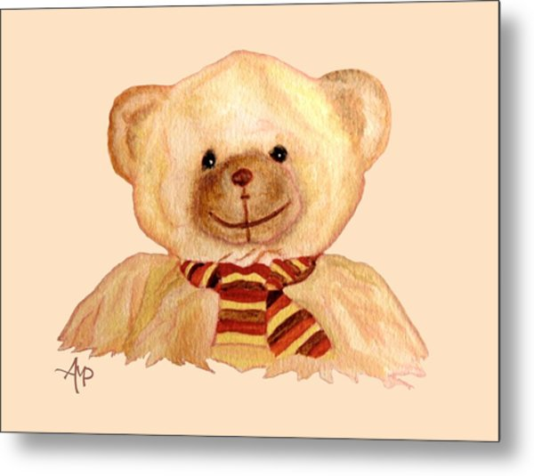 Cuddly Bear Metal Print