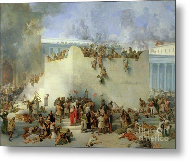 Destruction Of The Temple Of Jerusalem Metal Print