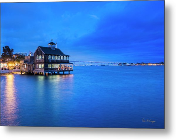 Metal Print featuring the photograph Dinner On The Bay by Dan McGeorge