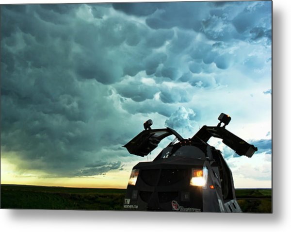 Dominating The Storm Metal Print
