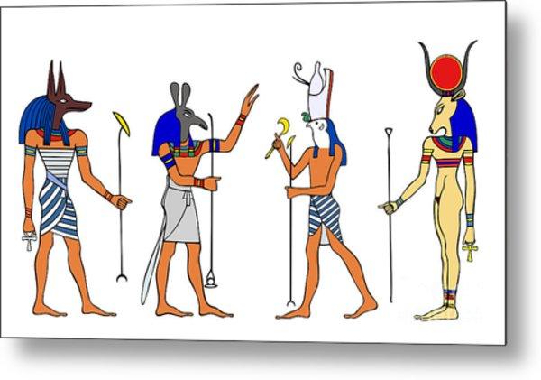 Egyptian Gods And Goddess Metal Print