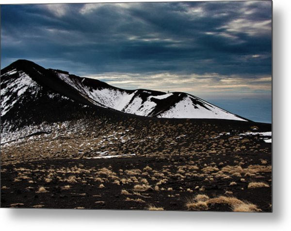 Etna, Red Mount Crater Metal Print