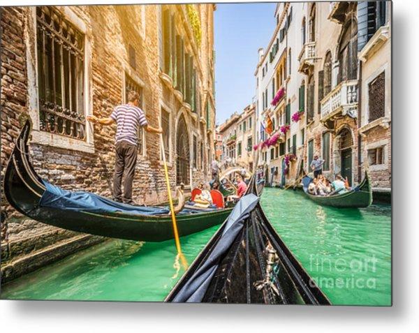 Exploring Venice Metal Print