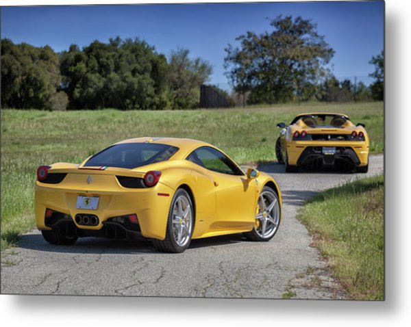 Metal Print featuring the photograph #ferrari #458italia #print by ItzKirb Photography