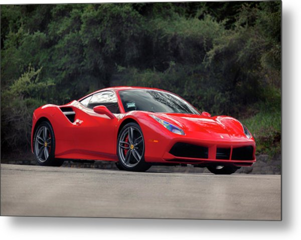 Metal Print featuring the photograph #ferrari #488gtb by ItzKirb Photography