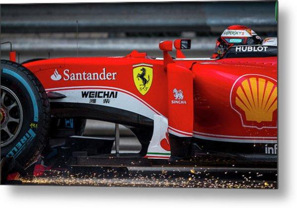 Ferrari Formula 1 Kimi Raikkonen  Metal Print