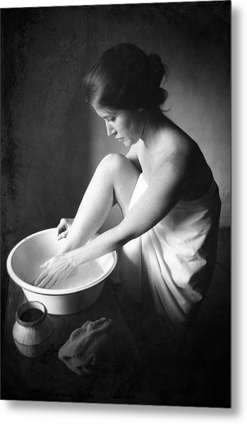 Metal Print featuring the photograph Footwasher by Jennifer Wright