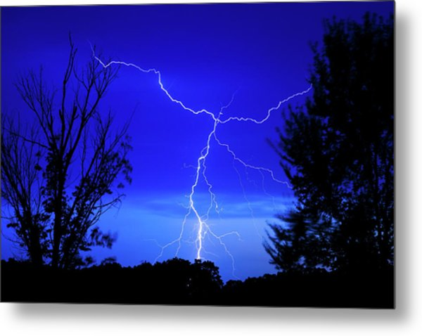 Forked Lightning Metal Print