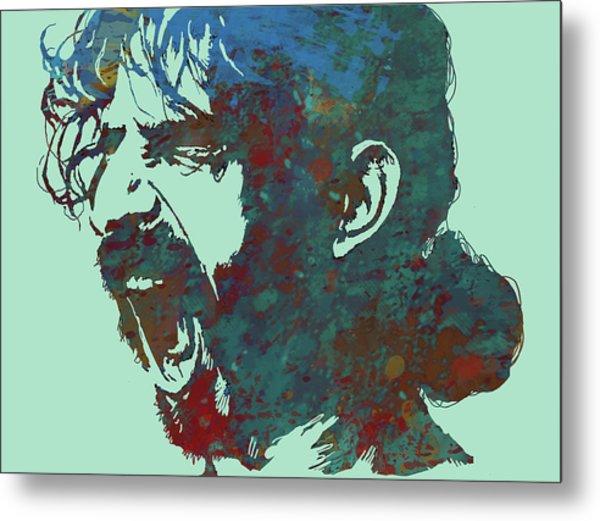 Frank Zappa Stylised Pop Art Drawing Potrait Poser Metal Print