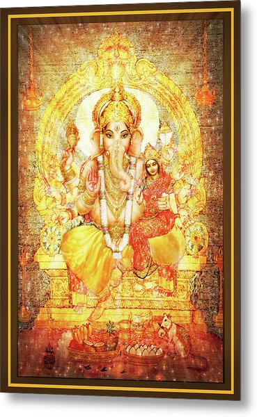 Ganesha Ganapati - Success Metal Print