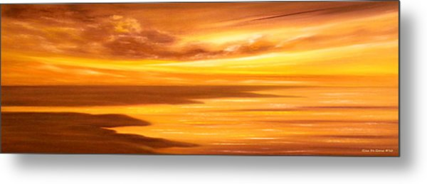 Golden Panoramic Sunset Metal Print