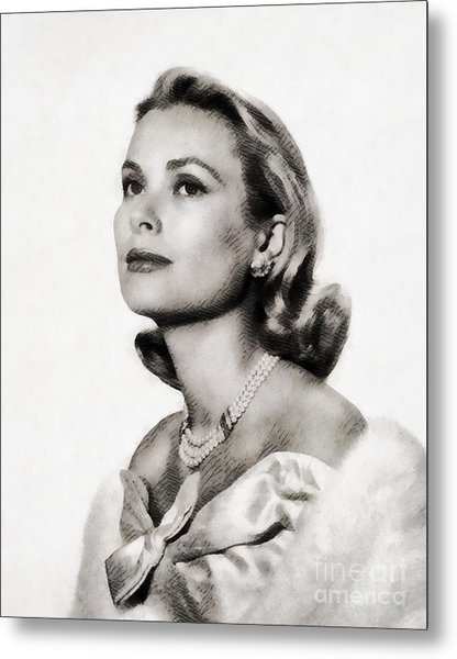 Grace Kelly, Vintage Hollywood Actress Metal Print