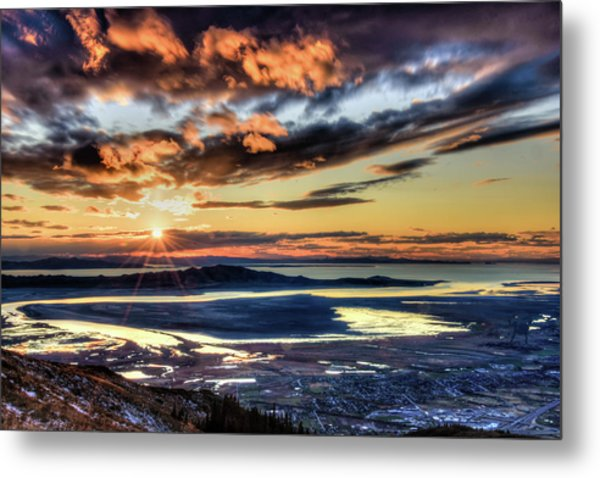 Metal Print featuring the photograph Great Salt Lake Sunset by Bryan Carter