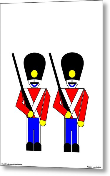 2 Guardsmen Metal Print by Asbjorn Lonvig