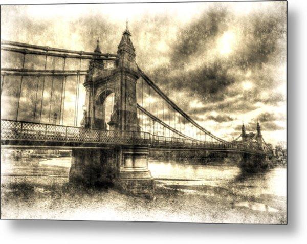 Hammersmith Bridge London Vintage Metal Print